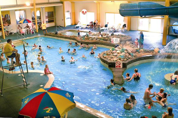 Indoor pool at Carmarthen Bay