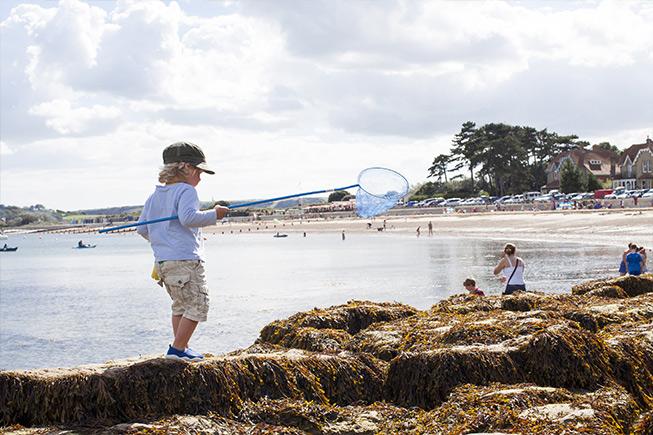 child crabbing