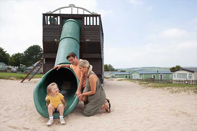 family in play park