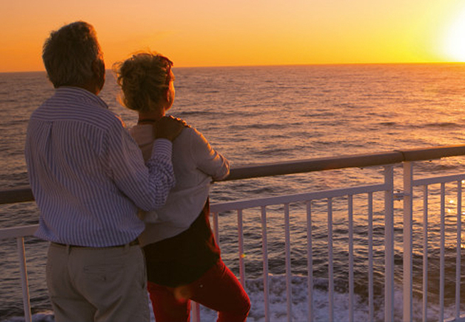 couple on a ferry
